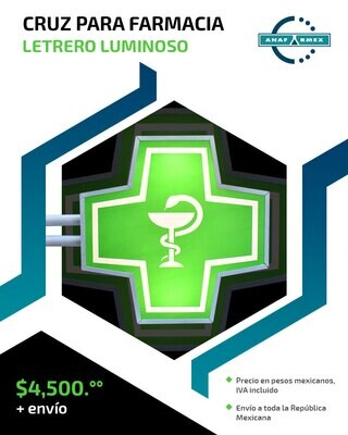 Cruz Luminosa para Farmacia