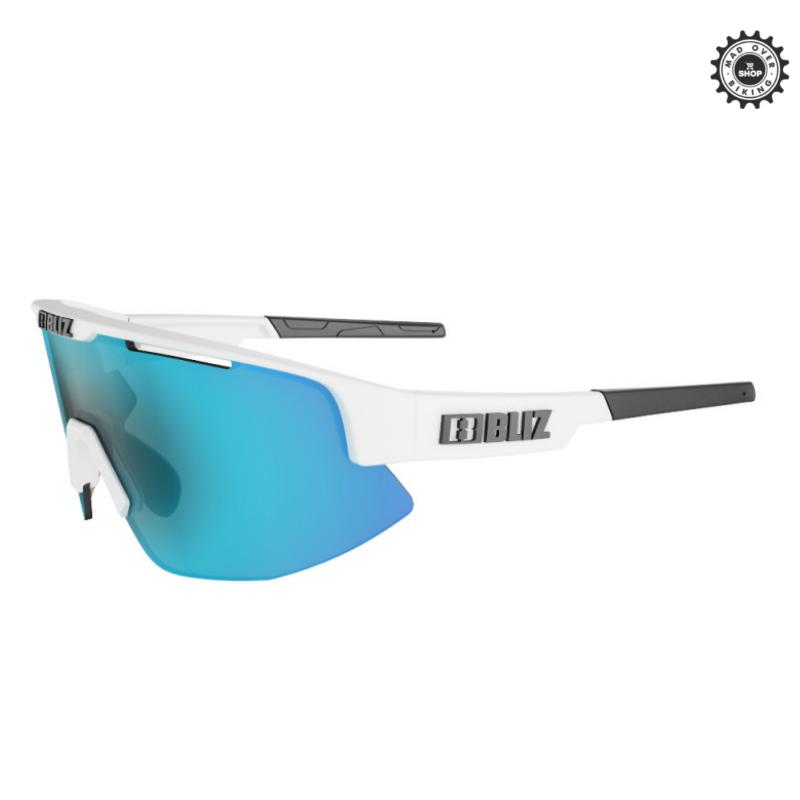 BLIZ MATRIX SMALL (Matt White, Lens: Smoke w Ice Blue Multi)