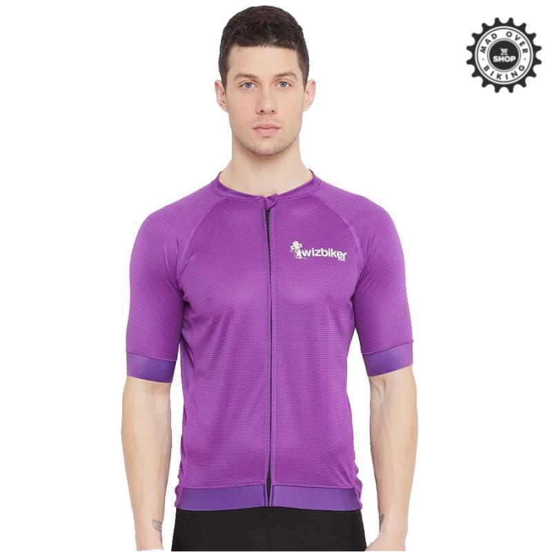 Wizbiker Classic Cycling Jersey Purple