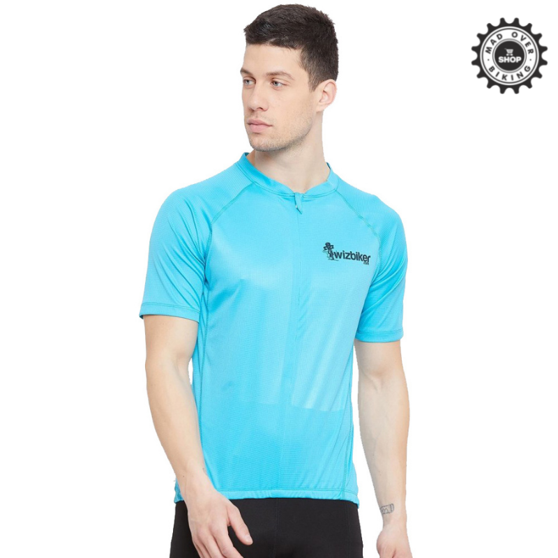 Wizbiker Essential Cycling Jersey Turquoise Blue