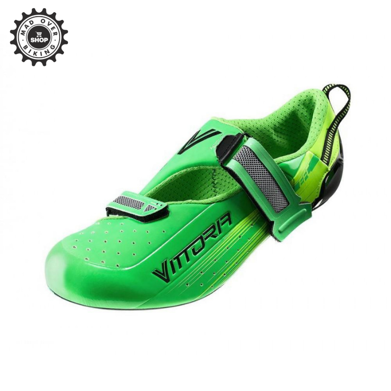 VITTORIA ROAD CYCLING SHOES CARBON SOLE TRI PRO GREEN
