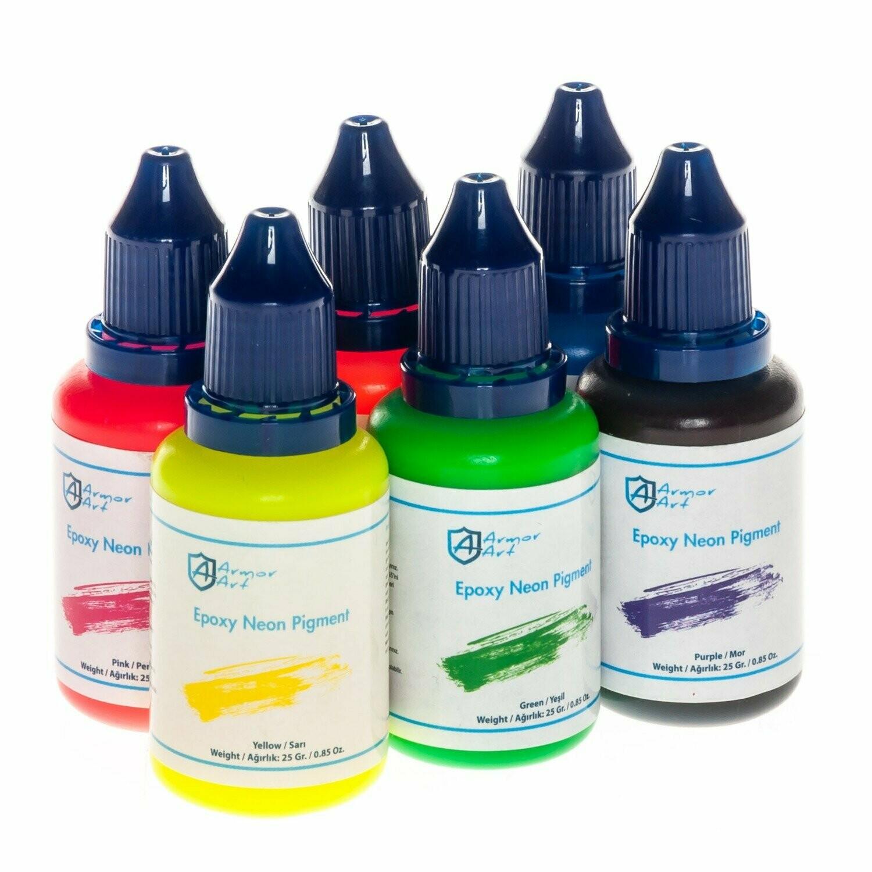 Epoksi Pigment - Neon Set ( 6 renk x 25 gr )