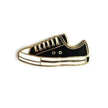Black Converse Enamel Pin