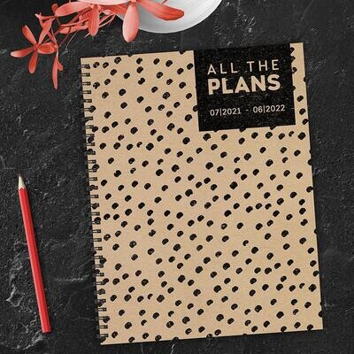 Black Dot Spiral Weekly/Monthly Planner w/ Stickers