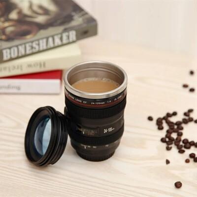 Camera Lens Mug- black