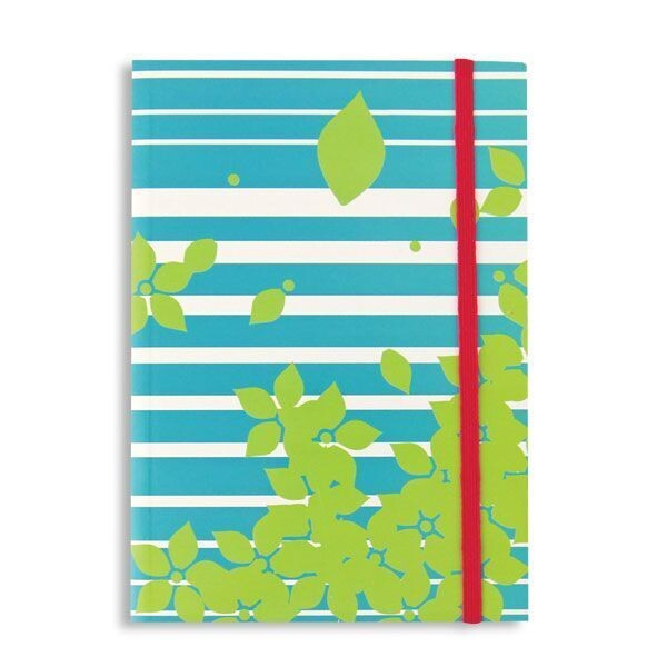 Blue and White Stripe Journal