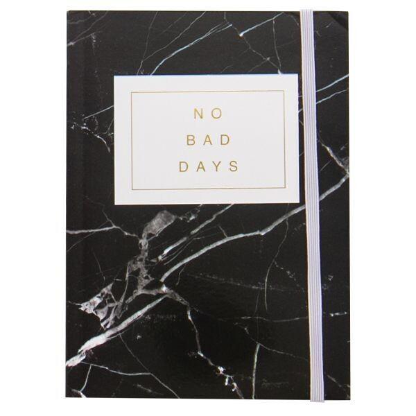 Black Marble No Bad Days Journal