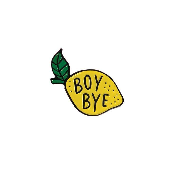 Boy Bye Lemon Enamel Pin