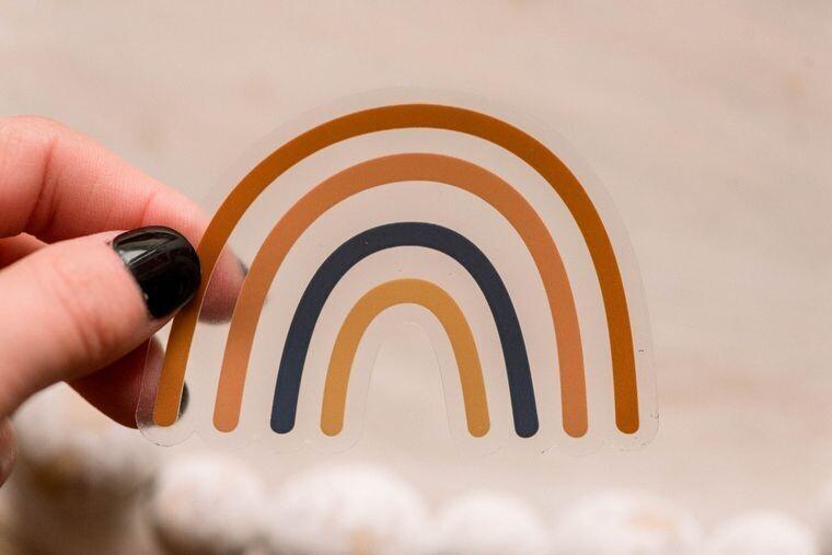 Brown Rainbow Sticker