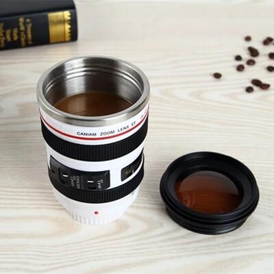 Camera Lens Mug- white