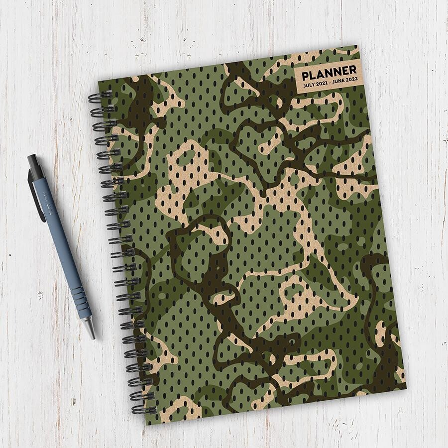 Camouflage Weekly/Monthly Spiral Planner