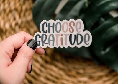 Choose Gratitude Sticker