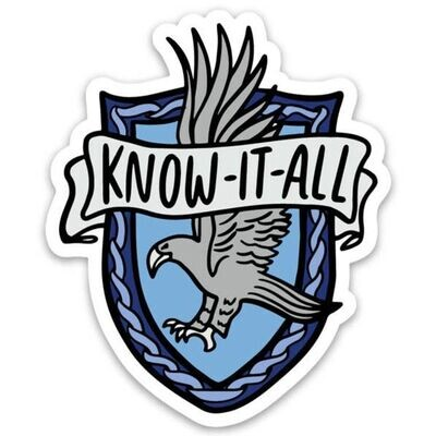 Harry Potter Ravenclaw Know it All Sticker