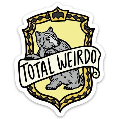 Harry Potter HufflePuff Total Wierdo Sticker
