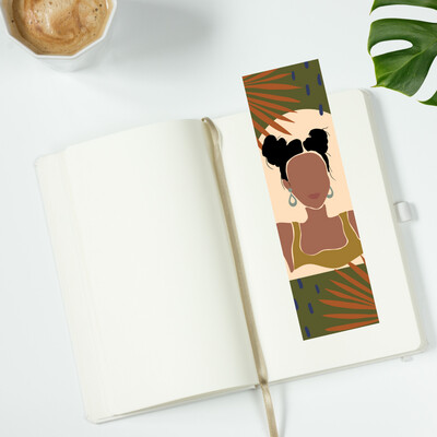 Melanated Pom Pom Girl Bookmark