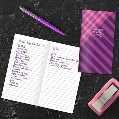Purple Plaid Pocket Notebook