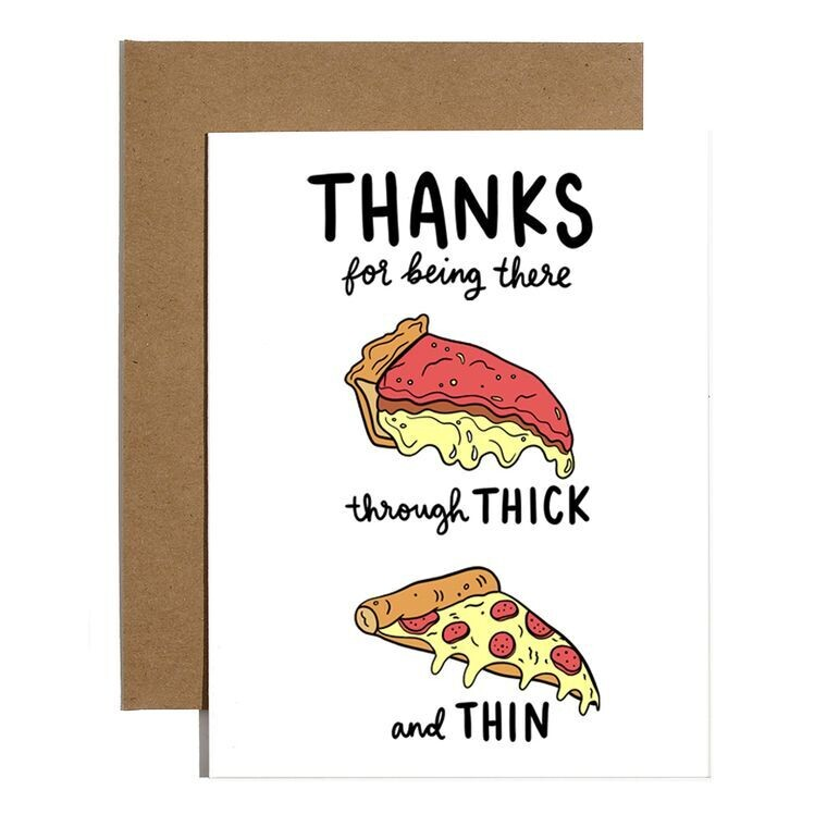Pizza Thank You Greeting Card
