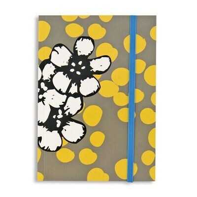 Yellow Dot with Graphic Flower Journal