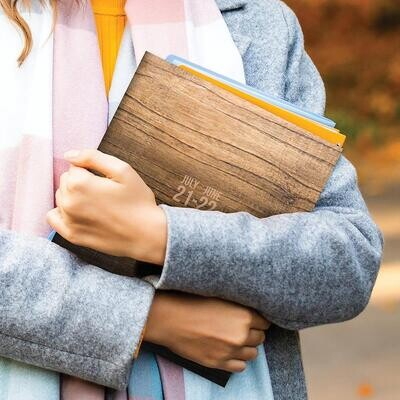 Wood Grain Ombre Montly Planner