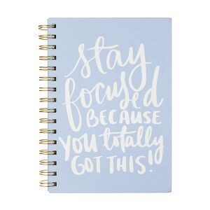 Stay Focused Blue Journal