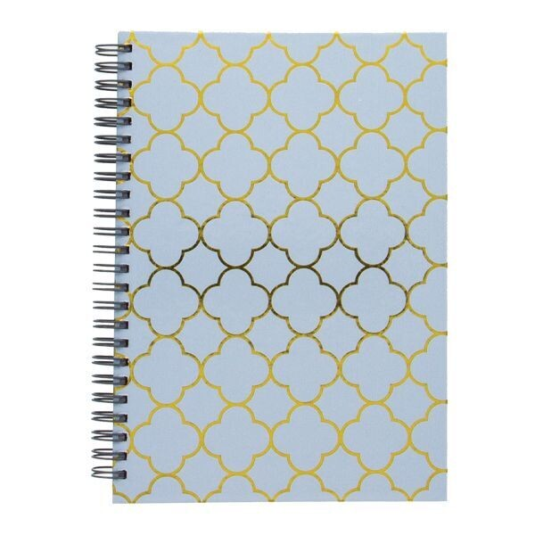 Blue Spiral journal: Silver Hot Stamp