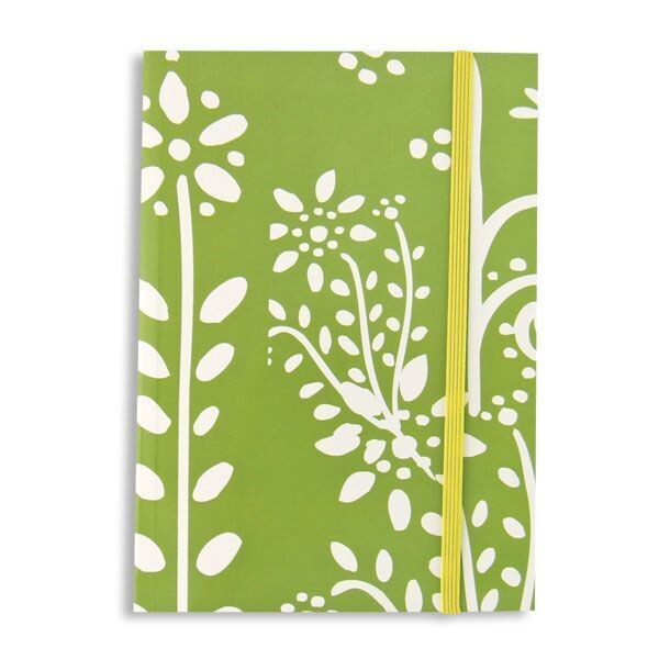Green and White Flower Journal