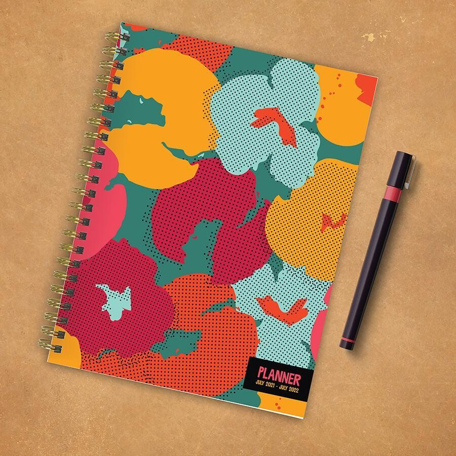 Floral Dotted Weekly/Monthly Spiral Planner