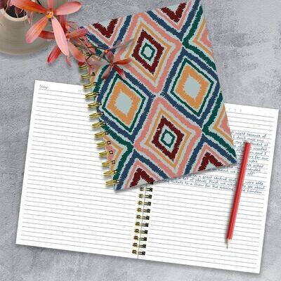 Multicolor Tribal Spiral Journal