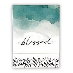 Blessed Pocket Notepad- Watercolor