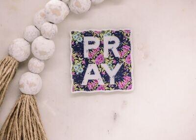 Pray Floral Sticker