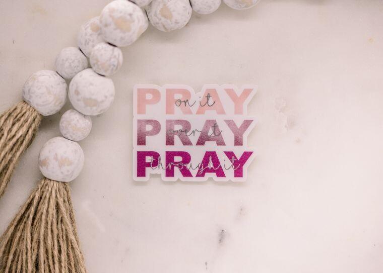 Pray Pray Pray Translucent Sticker