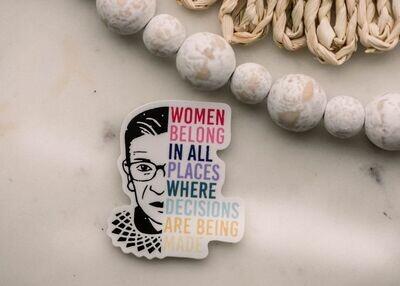 Women Belong RBG Sticker