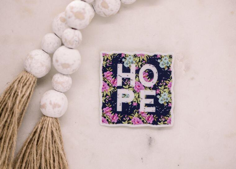 Hope Floral Sticker