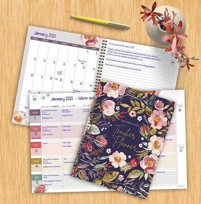 Botanical Floral Undated Weekly Teacher Planner Lesson Plan Book
