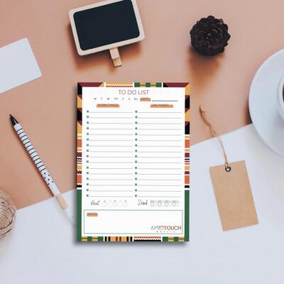 Dual To-Do List Notepad: Kente