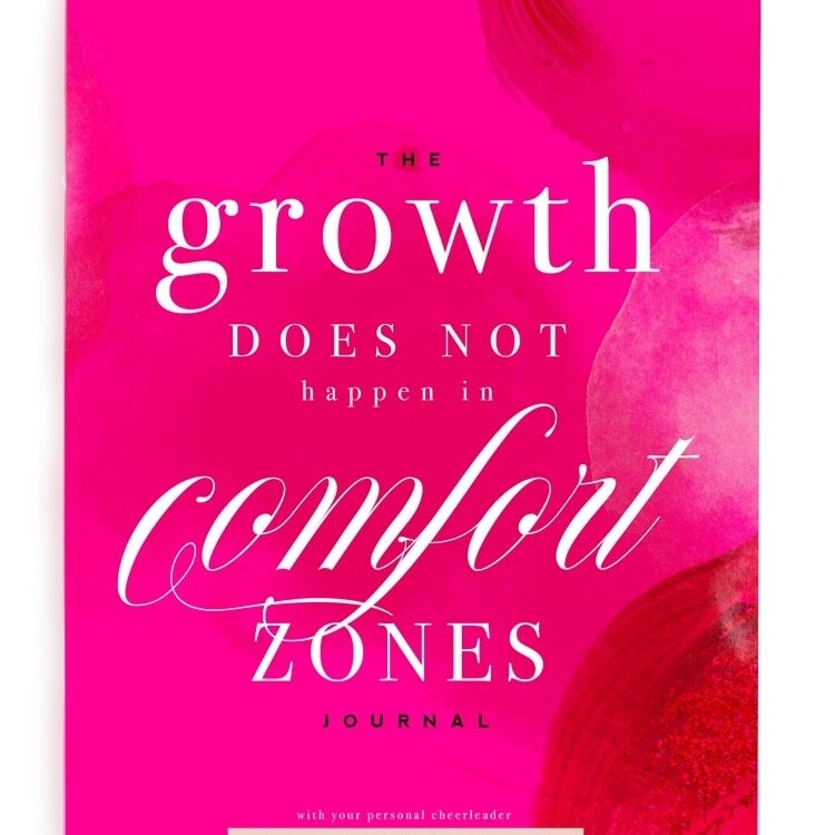 Growth Doesn't Happen in Comfort - Inspirational Notebook