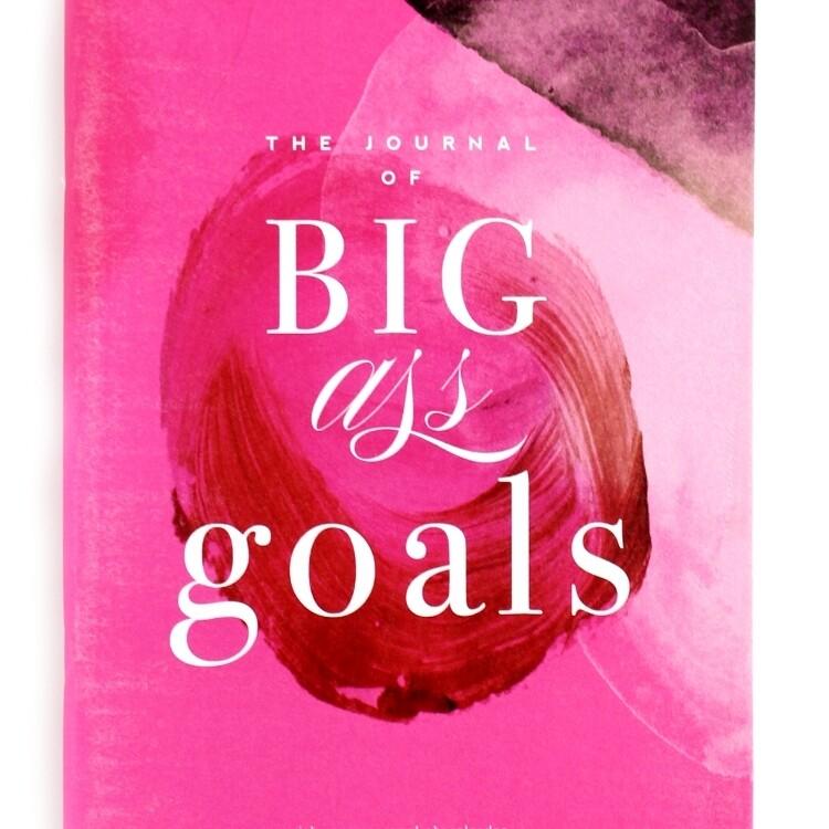 Hot Pink Notebook, BIG GOALS, Inspirational Notebook