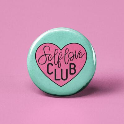Self-Love Club Pinback Button