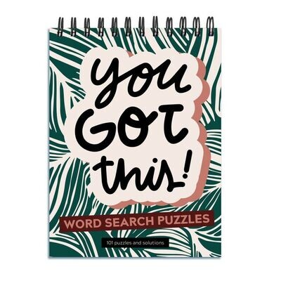 """""""You Got This"""" Word Search Spiral Puzzle Book"""