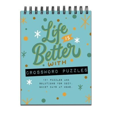 Life is Better with Crossword Puzzles Spiral Book