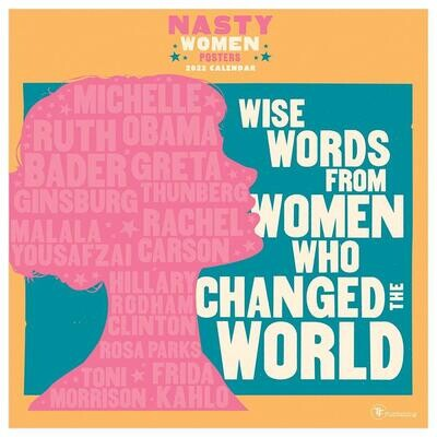 Wise Words from Women Who Changed the World Wall Calendar