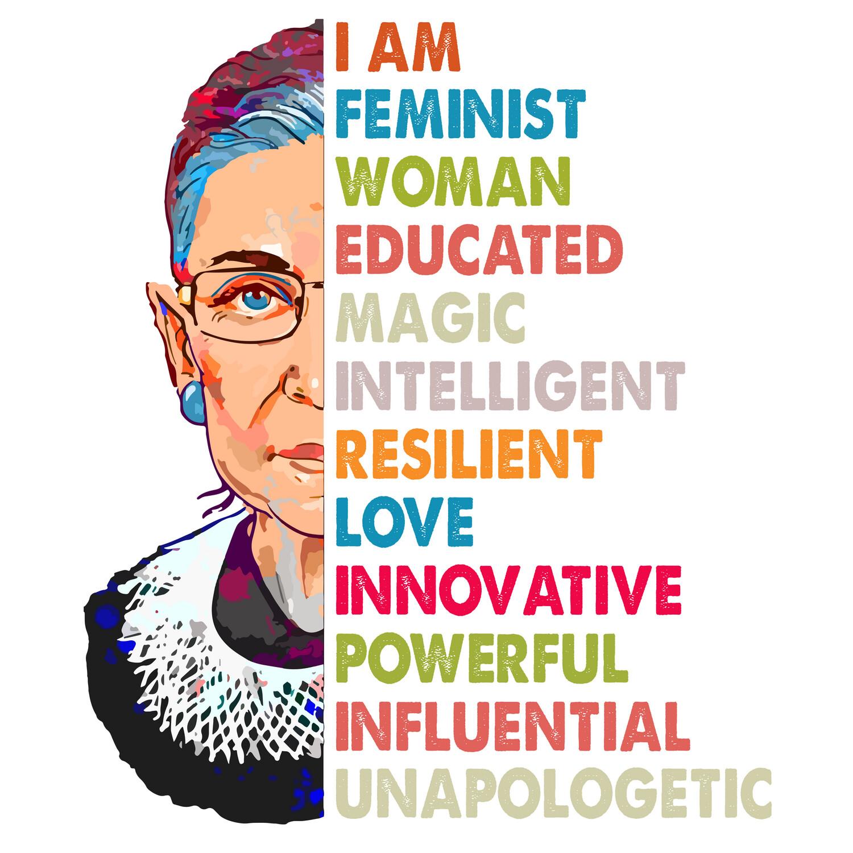 RBG: I am Feminist Clear Vinyl Sticker