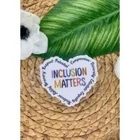 Inclusion Matters Clear Vinyl Sticker