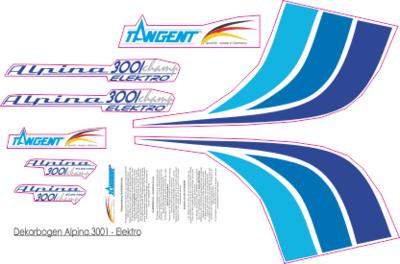 Dekorbogen Alpina 3001 Elektro
