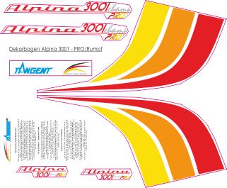 Dekorbogen Alpina 3001 Segler