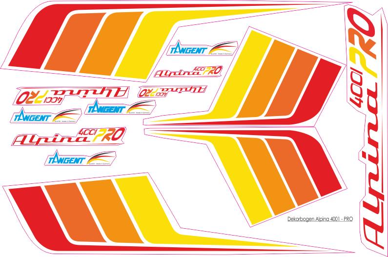 Dekorbogen Alpina 4001 Segler