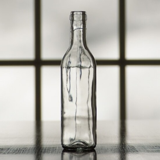 375 ml Clear Flint Wine Bottles Case/24