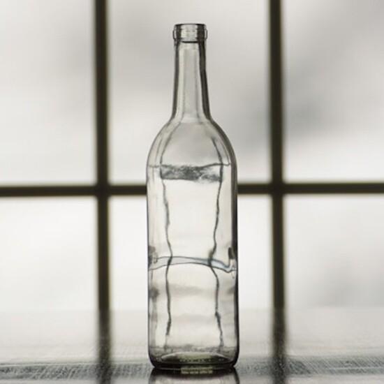 750 ml Clear Flint Claret Bottles Case/12