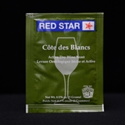 Red Star Cote des Blanc Wine Yeast- 5 g.