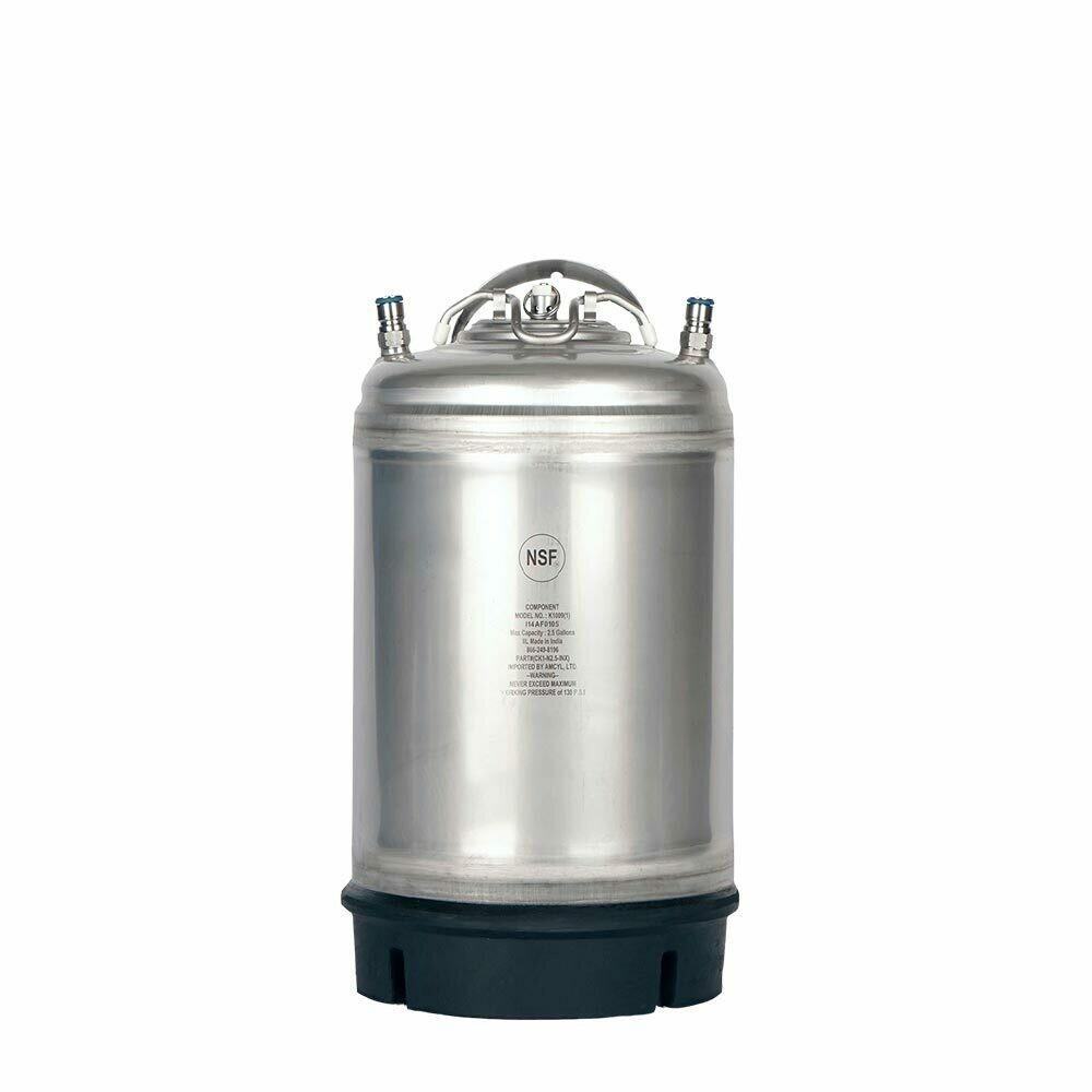 New 3 Gallon Ball Lock Keg- Single Handle
